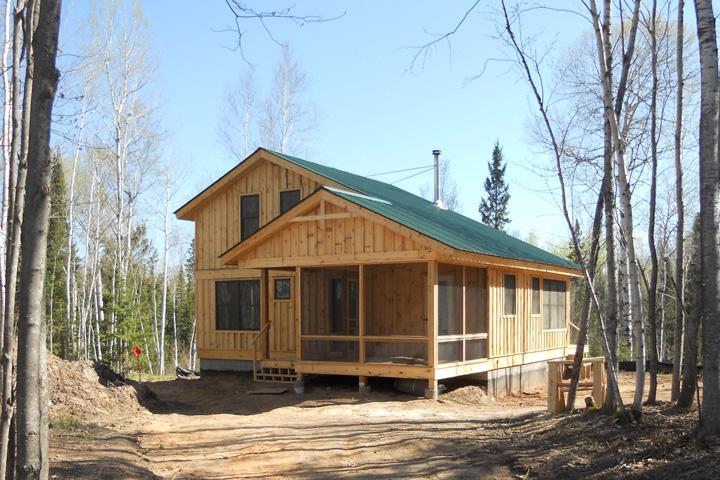 Simple cabin foundation joy studio design gallery best for Off grid cabin foundation